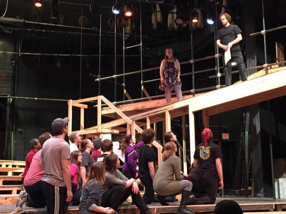 Rehearsal photo from the Duluth Playhouse production of 'Jesus Christ Superstar.'
